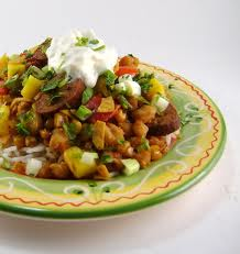 Southwestern Sausage and Hominy