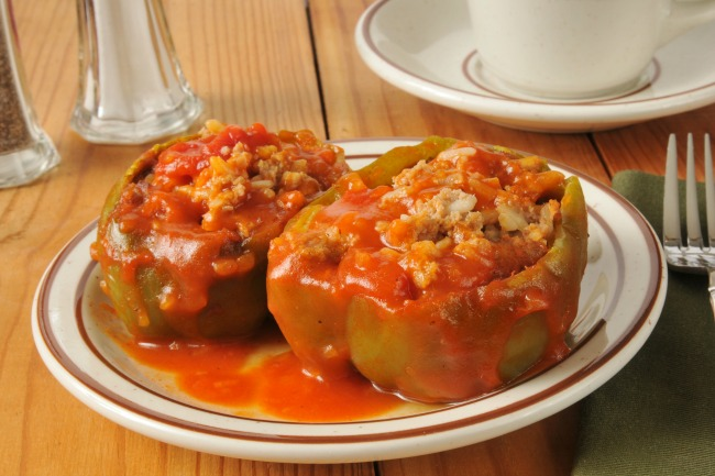 **Slow Cooker Stuffed Green Peppers