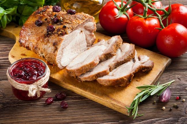 **Slow Cooker Cranberry Pork Roast