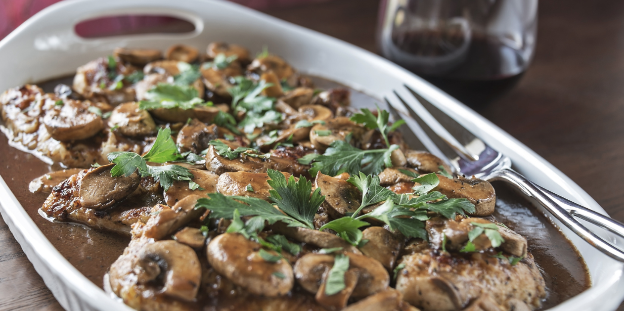 Slow Cooker Chicken Marsala* *