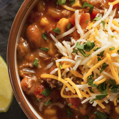 Slow Cooker Bean and Corn Chili * *