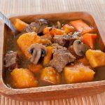 **Slow Cooker Beef Sweet Potatoes and Apple