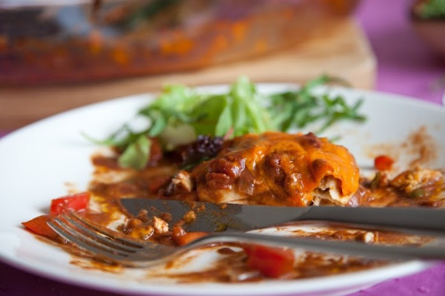 **Slow Cooker Enchilada Casserole