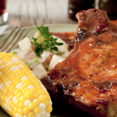 **Slow Cooker Glazed Pork Chops