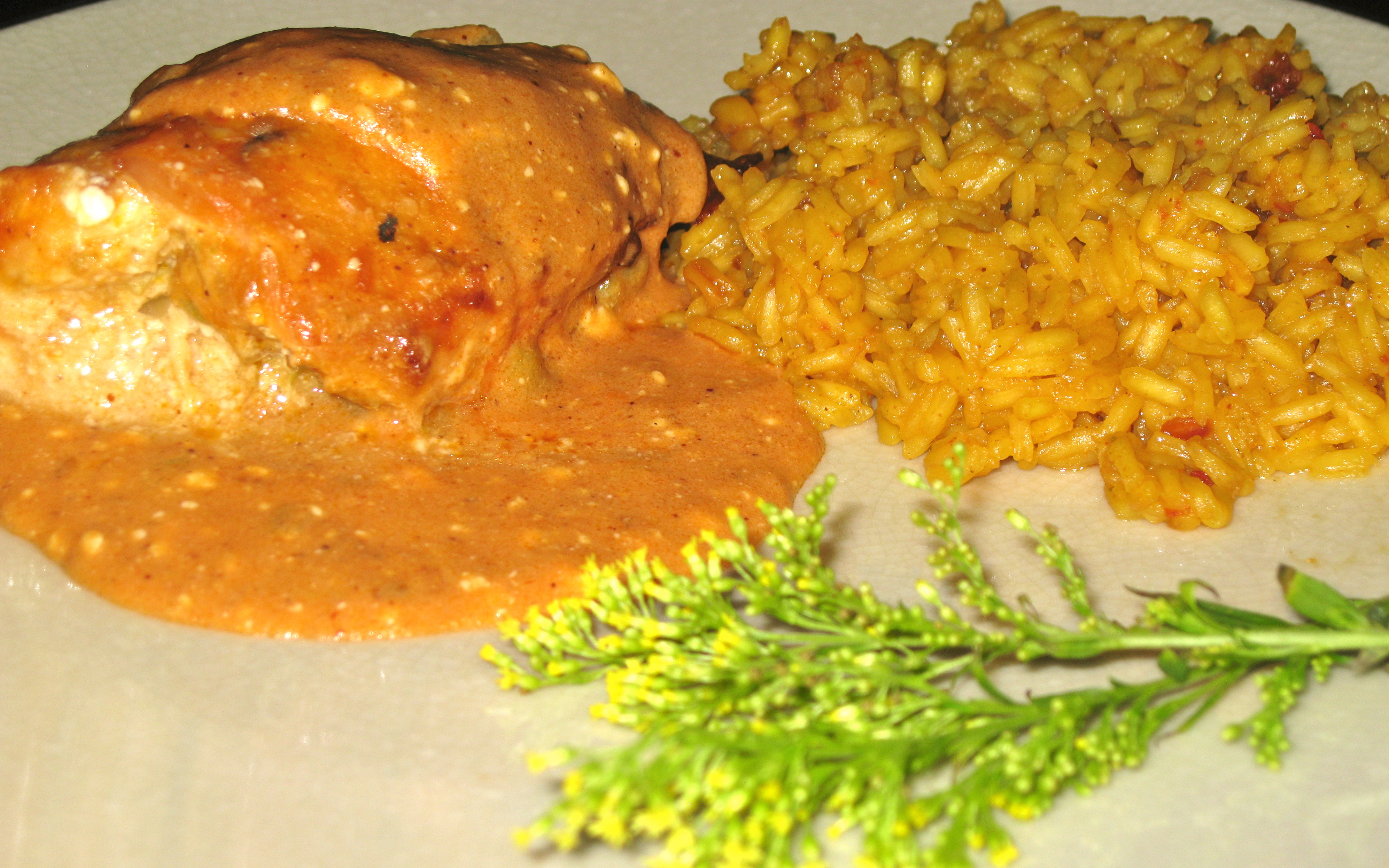 Crock Pot Green Chile Stuffed Chicken