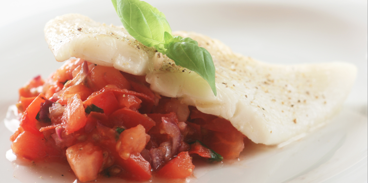 Slow Cooker Halibut with Tomato Lime Tapenade* *