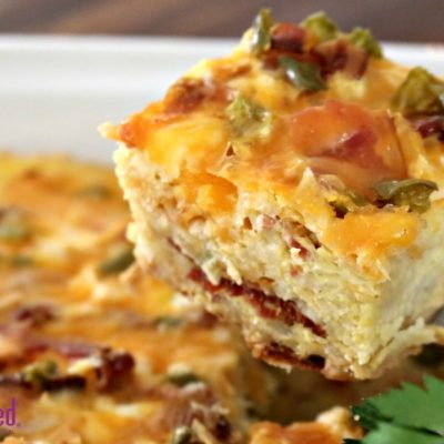 Slow Cooker Morning Casserole with Bacon