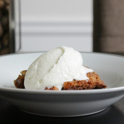 **Slow Cooker Peach Dump Cake