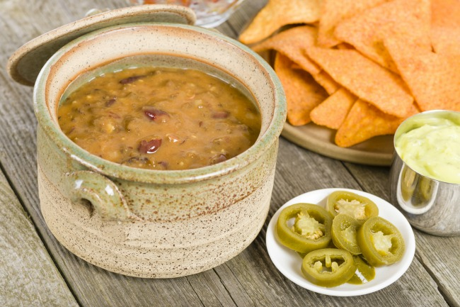 **Slow Cooker Cheesy Bean Dip