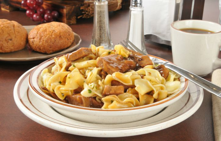 *Slow Cooker Beef Tips with Noodles