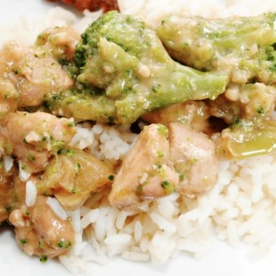 Slow Cooker EASY Cheesy Chicken, Broccoli and Rice * *