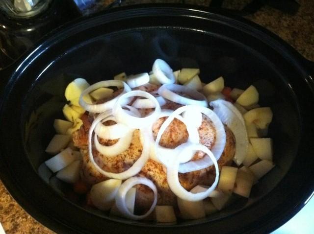 Crock Pot Savory Baked Chicken