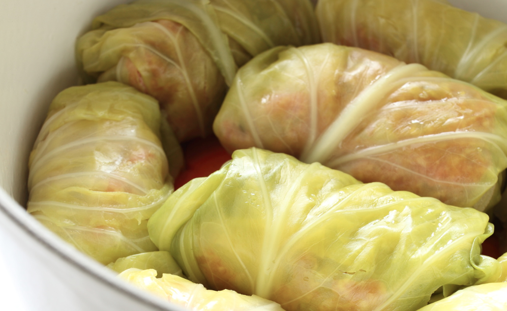 Slow Cooker Ground Turkey Cabbage Rolls * *