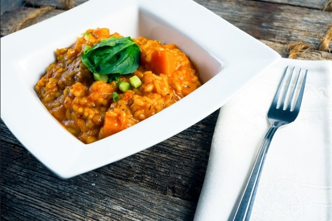 **Slow Cooker Butternut Squash Risotto