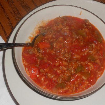 Cock Pot Stuffed Pepper Stew