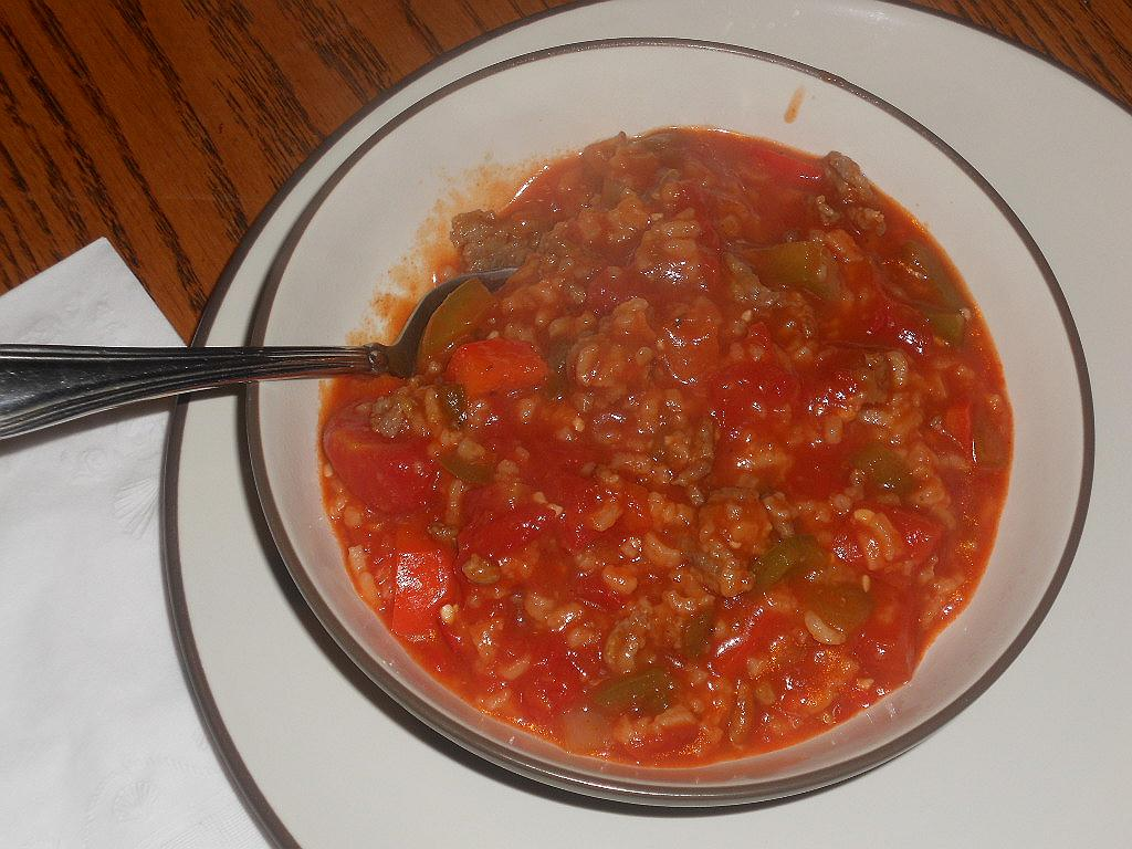 Cock Pot Stuffed Pepper Stew