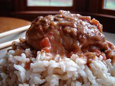 Slow Cooker Braised Chicken in Peanut Sauce