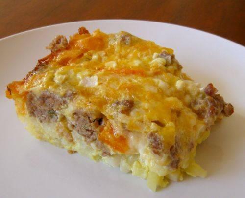 Crock Pot Sausage and Egg Casserole