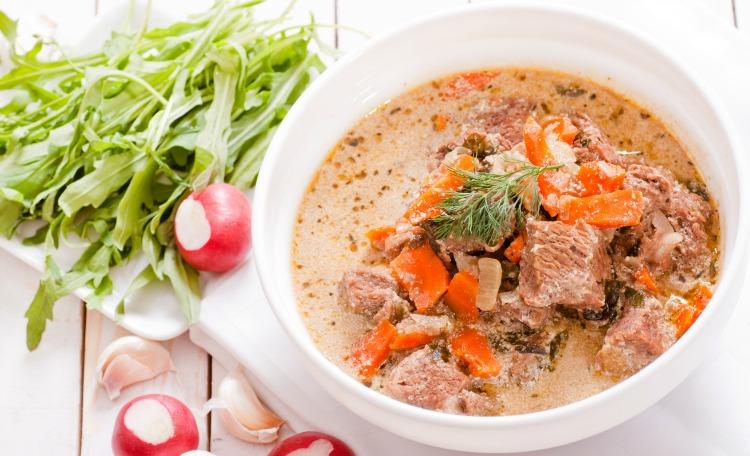 ** Slow Cooker Lemon Herb Veal Stew