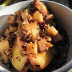 Crock Pot Sweet Acorn Squash with Apples and Craisins