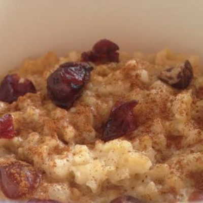 **Slow Cooker Eggnog Steel Cut Oatmeal