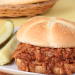 **Slow Cooker Pulled Pork with Low-Sugar Barbecue Sauce