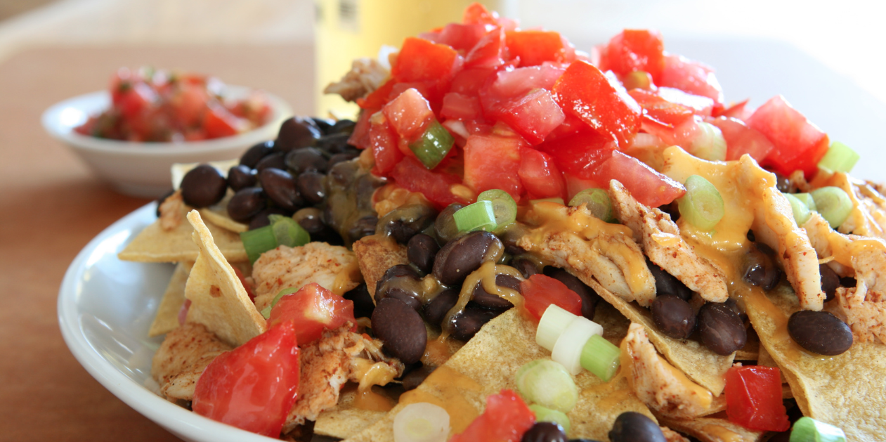 **Slow Cooker Spicy Chicken Nachos