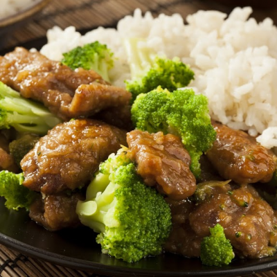 **Slow Cooker Beef & Broccoli