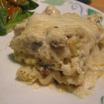 Crock Pot Chicken Alfredo Lasagna