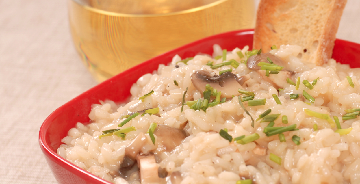 **Slow Cooker Risotto with Mushrooms