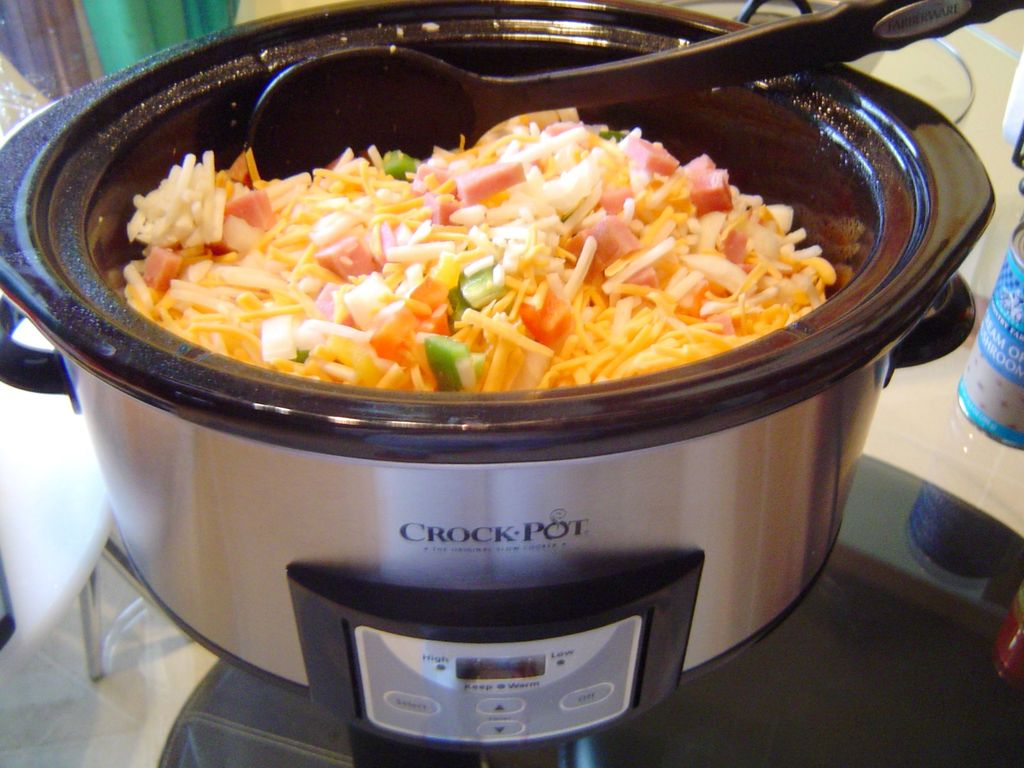 Crock Pot Cheesy Hash Browns