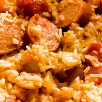Slow Cooker Sausage Jambalaya **