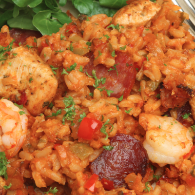 Slow Cooker Shrimp and Chicken Jambalya * *