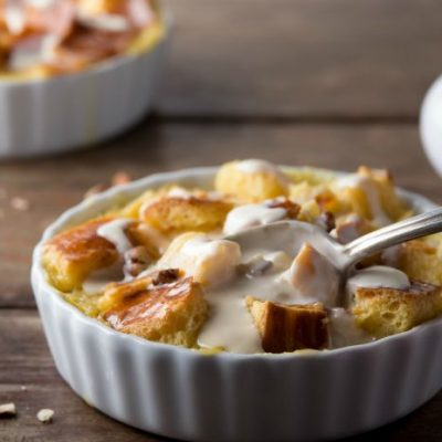 **Slow Cooker Tres Leches Bread Pudding