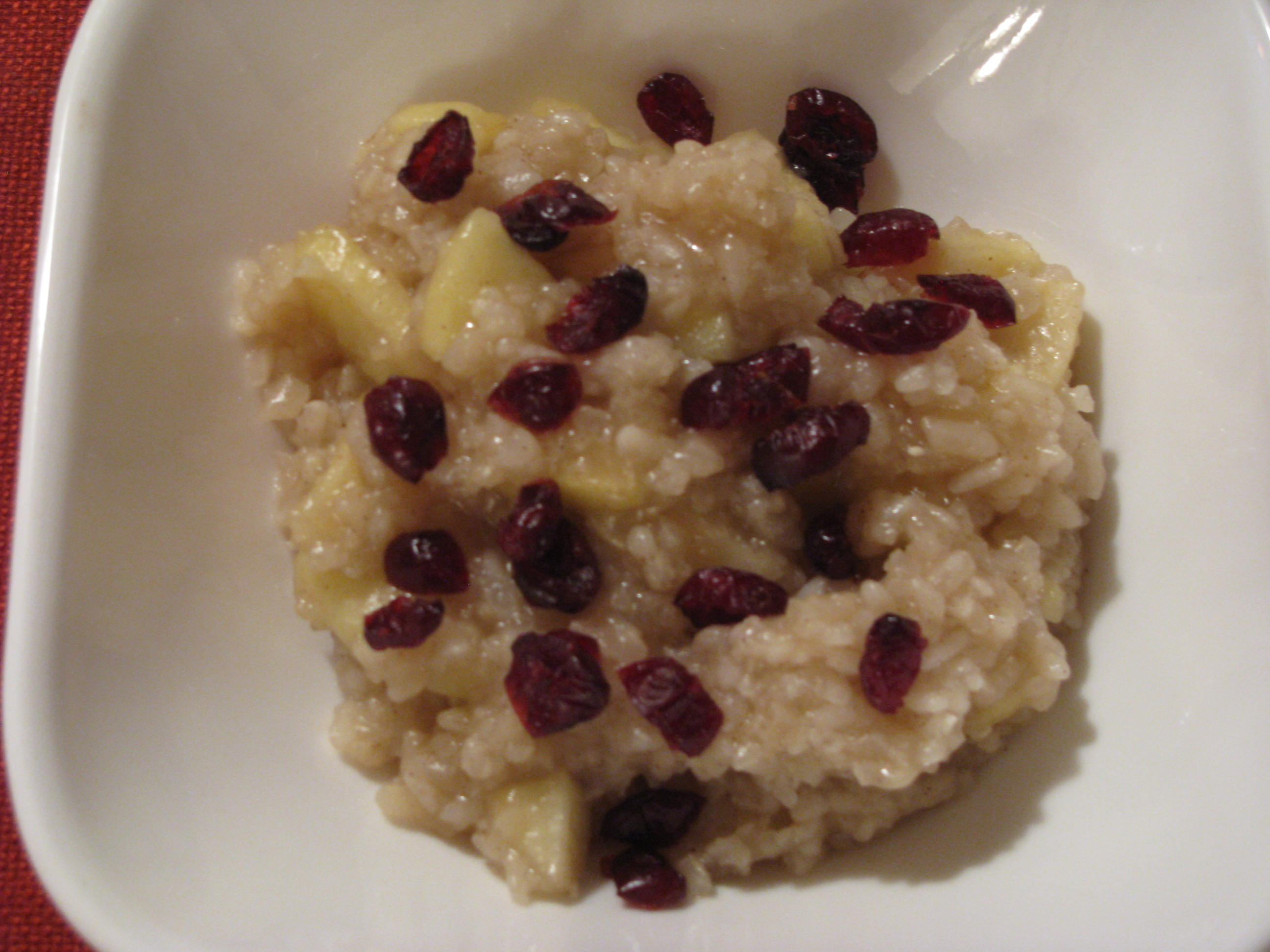 Crock Pot Apple Cinnamon Risotto Breakfast