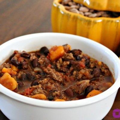 ** Slow Cooker Sweet Potato Chili