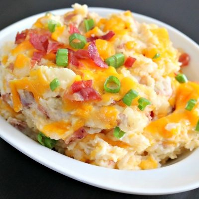 ** Slow Cooker Twice Baked Potato Casserole