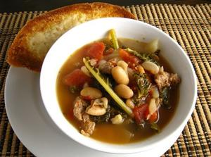 Slow Cooker 16 Bean and Sausage Soup