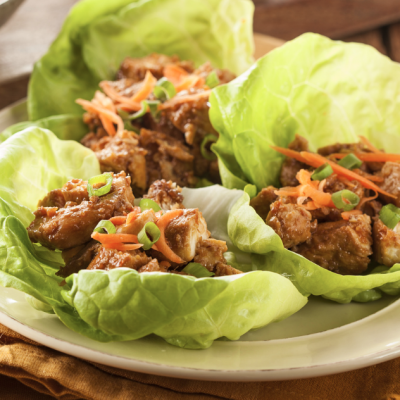 Slow Cooker Paleo Asian Chicken Lettuce Wraps * *