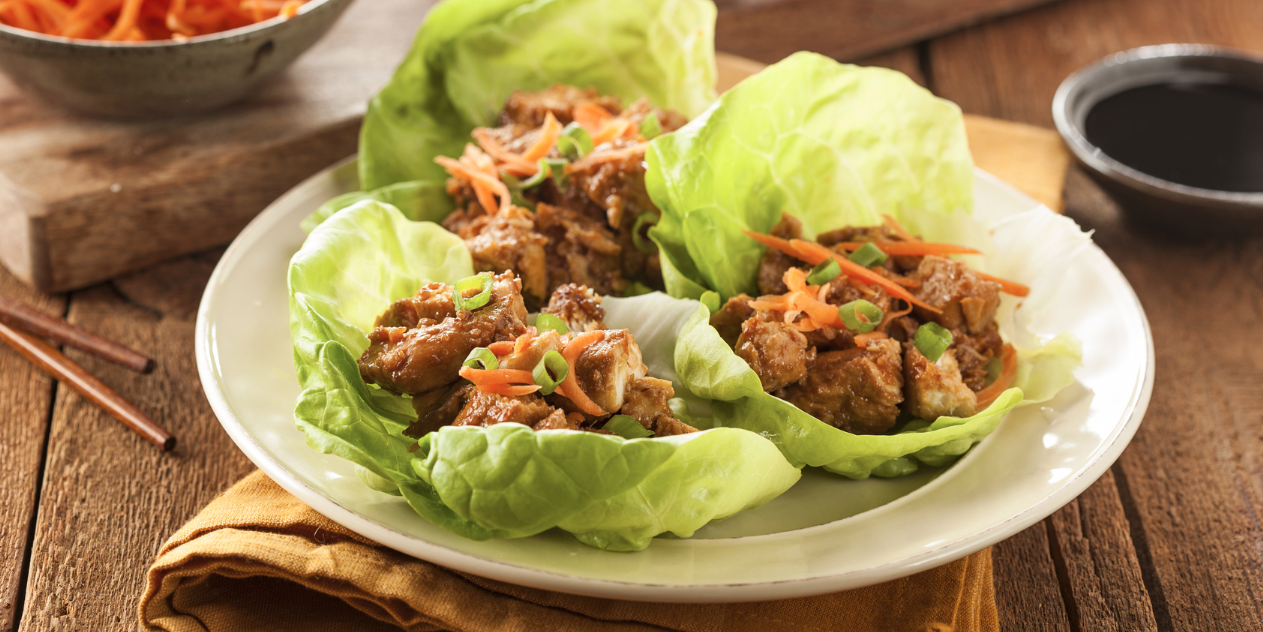 Slow Cooker Paleo Asian Chicken Lettuce Wraps * *