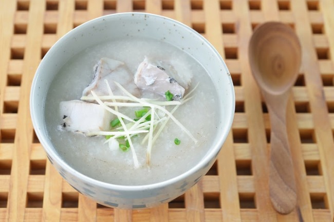**Slow Cooker Fish Congee