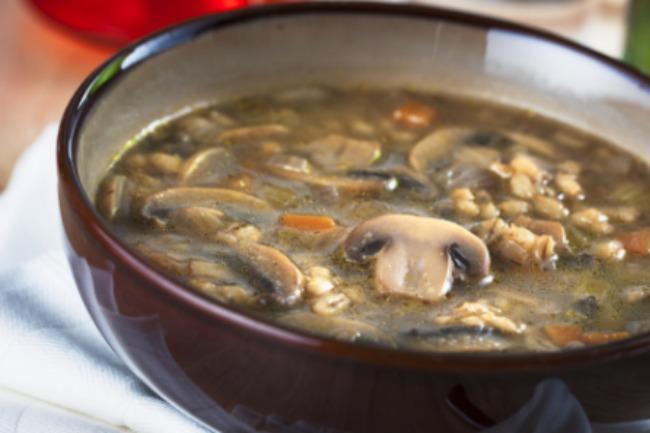 **Slow Cooker Mushroom Barley
