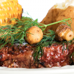 Slow Cooker Layered Steak, Potatoes and Corn on the Cob * *
