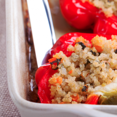 Slow Cooker Beef and Couscous Stuffed Peppers * *