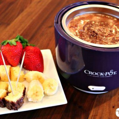 Slow Cooker Chocolate Marshmallow Fondue