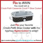 Pin to Win a new slow cooker!