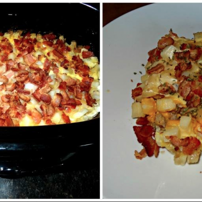 Slow Cooker Cluck and Murphy Breakfast Casserole * *