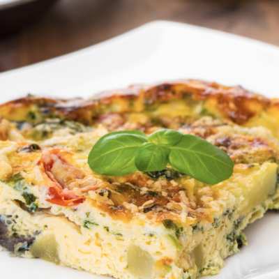 Slow Cooker Spinach and Cheese Frittata * *