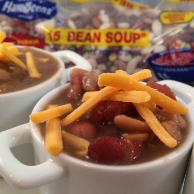 Slow Cooker 15 Bean Chicken Chili