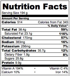 Slow Cooker Pumpkin Cheesecake Nutrition **